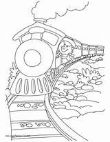 Coloring Caboose Train Printable Getcolorings sketch template
