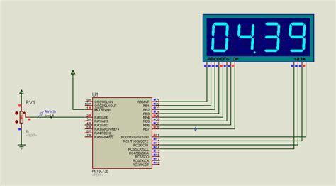 digital voltmeter circuit project using pic microcontroller