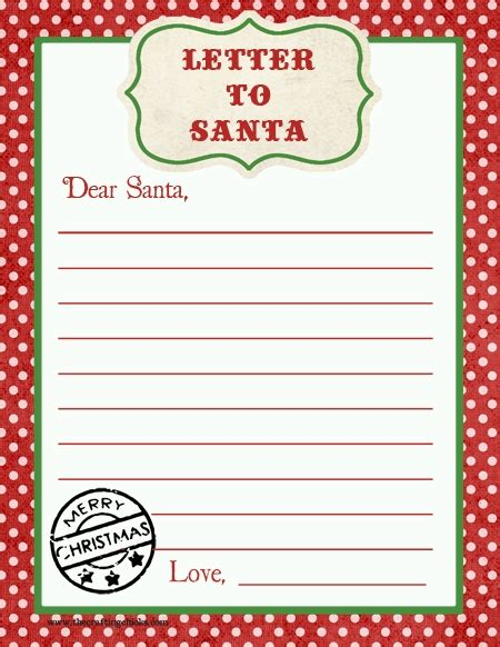 Letter From Santa Template Word Letter To Santa Template Word Letter Of Recommendation