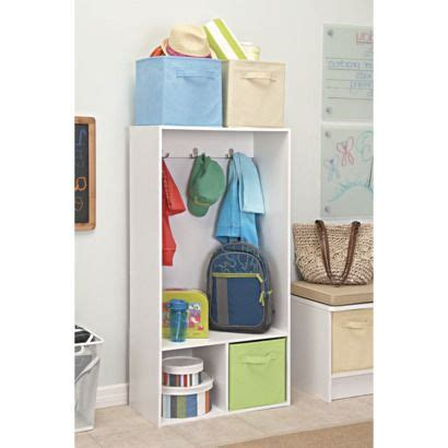 Closetmaid 2 Cube Storage Locker - closetmaid storage locker white kid s room locker