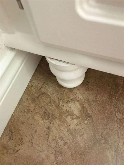 adding wood feet   bathroom vanity hometalk