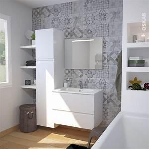 ensemble salle de bains meuble ipoma blanc mat plan vasque With meuble salle de bain blanc mat