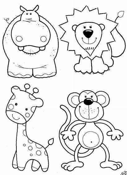 Coloring Animals Pages Animal Printable Jungle Zoo