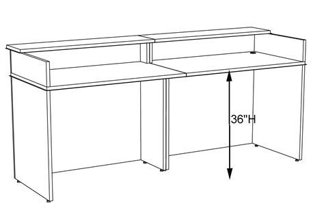 average reception desk height classic custom standing height reception desk 5 39 w