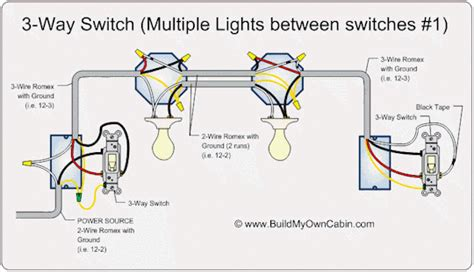 Way Switch Multi Light Wiring Diragram Volt