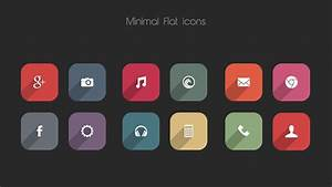 Minimal Flat Icon Pack For Android  550  Hd Icons  U0026 20 Hd Wallpapers