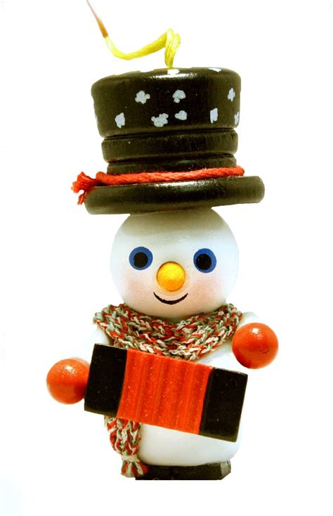 steinback ornament christmas heaven no xwg5 0436 steinbach accordion player snowman german wooden ornament ebay