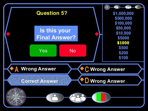 Who Wants To Be A Millionaire Blank Template Powerpoint by Who Wants To Be A Millionaire Template