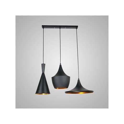 lustre plafonnier 224 3 les suspensions style industriel en aluminium noir luminaire cuisine