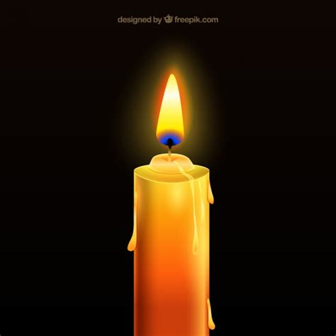 candele on line realistic candle vector free