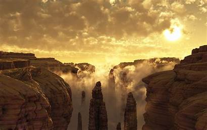 Canyon Grand Landscape Sunset Clouds Wallpapers Nature