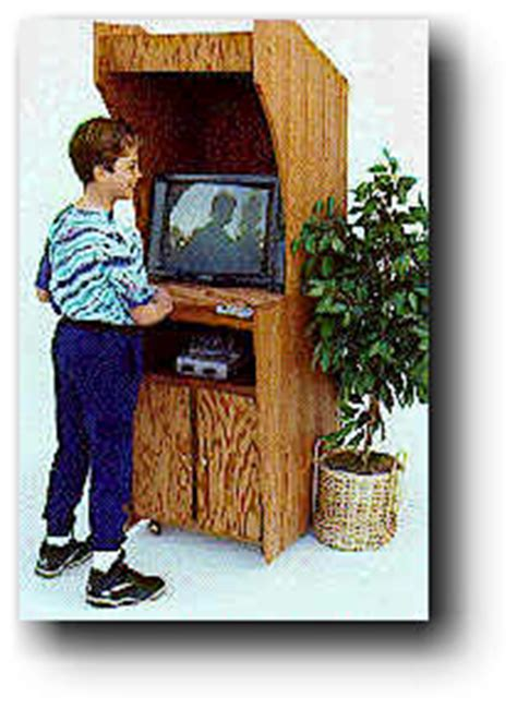 video game cabinet woodworking plan