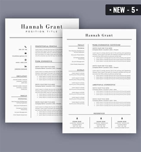 Up To Date Cv Template by Resume Template Cv Template For Ms Word Best Selling