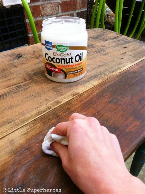refinishing furniture  coconut oil