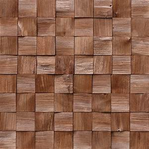 Holzpaneele Quadro IV Kiefer Quadrate 380 X 380 Mm