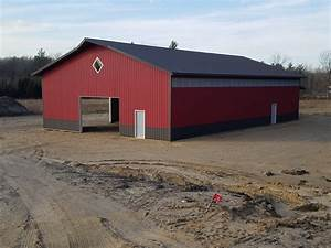 Post frame buildings pole barns milmar contractors for Amish pole barns indiana