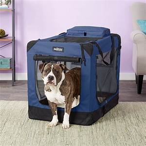 Elitefield, 3-door, Folding, Soft-sided, Dog, Crate, Blue, 36-in