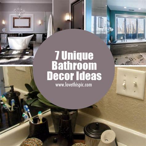 unique bathroom decorating ideas 7 unique bathroom decor ideas