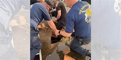 Fell Worker Roof Barrel Gun Fire Crews