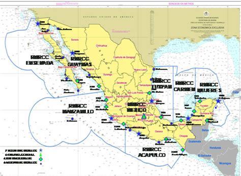 mexico regiones navales despliegue de las estaciones propuestas