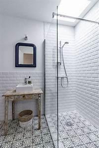 Carreau Metro Blanc : salle de bain les couleurs tendance en 2018 habitatpresto ~ Melissatoandfro.com Idées de Décoration