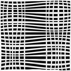 Shop Black and white swerved stripe pattern Scarf by gbc ...