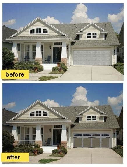 before and after exterior home makeovers before and after garage makeovers craftsman exterior other metro by clopay building products