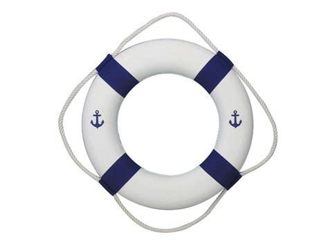 buy classic white decorative anchor lifering with blue bands 20 inch