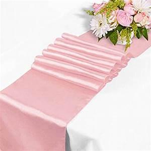 Chemin De Table Rose Pale : chemin de table satin rose p le d coration de table ~ Teatrodelosmanantiales.com Idées de Décoration