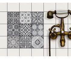 sticker pour carrelage acheter stickers pour carrelage With carrelage adhesif salle de bain avec cheminée à led