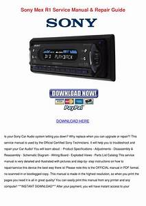 Sony Mex R1 Service Manual Repair Guide By Tinastack