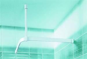 Rideau Baignoire Rigide : fixer barre de douche sans percer barre rideau sans ~ Nature-et-papiers.com Idées de Décoration