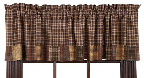 Prescott Block Border Curtain Valance 72