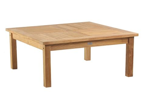 classic teak 42 inch square conversation table
