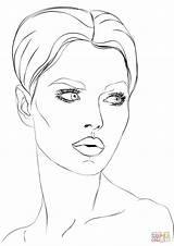 Volto Stilizzate Viso Womans sketch template