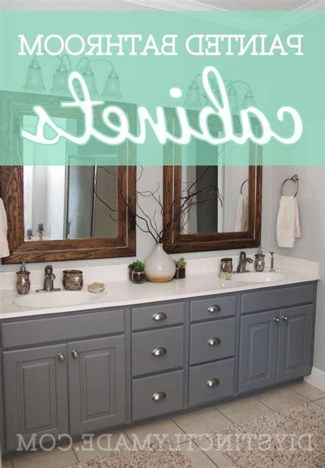 painting wood bathroom cabinets
