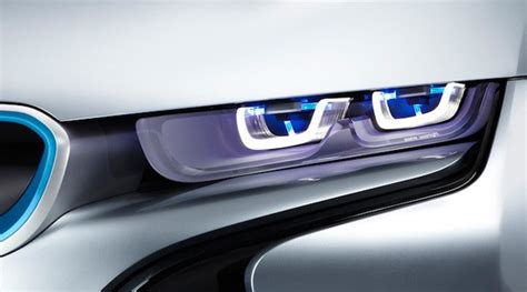 bmw i8 headlights bmw developing laser headlights officially over leds