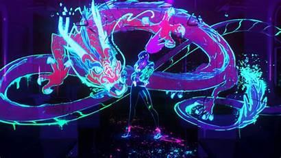 Akali Neon Lol League Legends 4k Pop