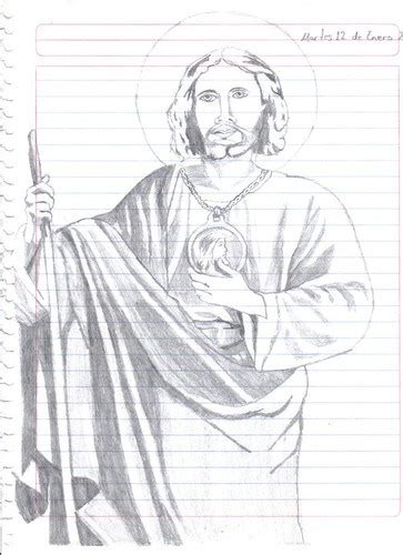 San Judas Tadeo Tattoos Sketches