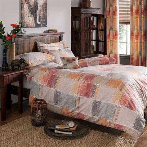 Terracotta Tribal Bed Linen Collection Dunelm