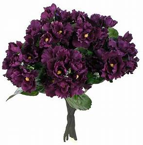 "16"" Purple Violet Silk Floral Bouquet - Bushes and ..."