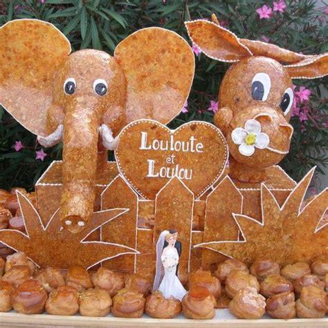 montee choux mariage montee mariage original gateau choux nougatine personnalis 233 animaux elephant vache