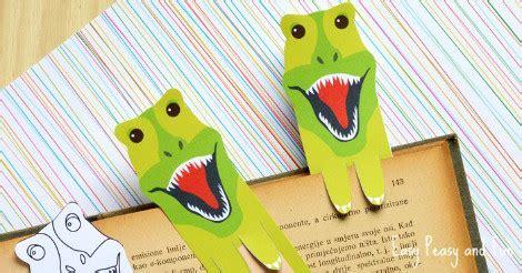 printable dinosaur bookmarks easy peasy  fun