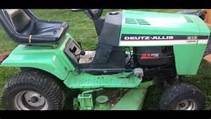 Deutz Allis 613 Lawn Mower Before Restoration