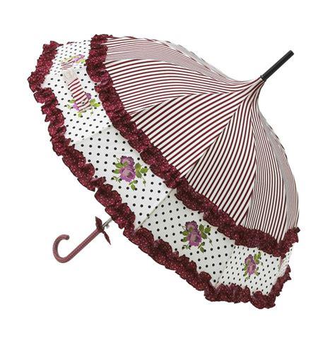 Dahl Schirm by Regenschirm Stockschirm Creme Rot R 252 Schen Streifen Punkte