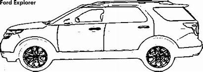Explorer Ford Tahoe Chevrolet Dimensions Coloring Suv