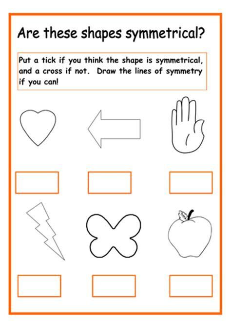 teaching symmetrical shapes  year   teach