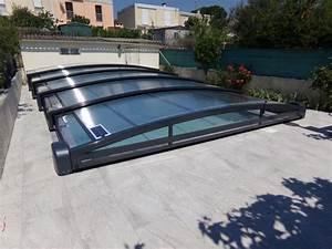 Abri Piscine Bas Coulissant : abri piscine bas et coulissant en aluminium bel abri ~ Zukunftsfamilie.com Idées de Décoration
