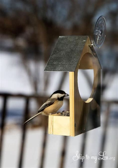 diy wooden bird feeder skip   lou