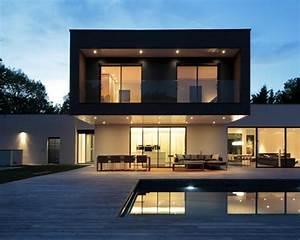 photos d39architecture et idees deco de facades de maisons With idee terrasse exterieure contemporaine 1 maison contemporaine blanche avec un interieur design